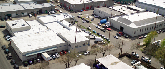 Our Corporate Headquarters occupies 2 city blocks, including 60,000 square feet of warehouse space.